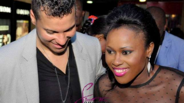 Uche-Jombo-and-husband-Kenny-Rodriguez-at-My-Life-My-Damage-movie-premiere-in-Lagos-March-2013