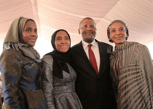 photos-dangote-poses-with-his-three-daughters-in-tanzania