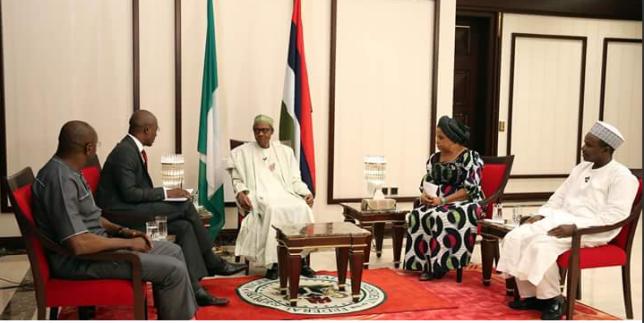 President Buhari at the Media Chat