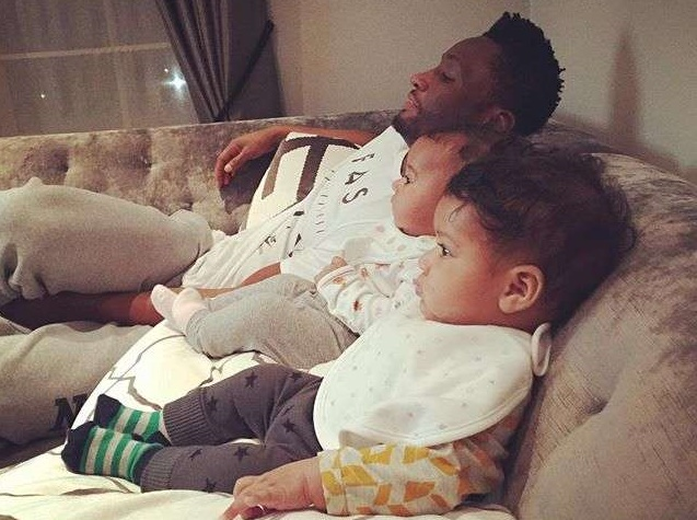 John-Obi-Mikel-and-his-twin-daughters