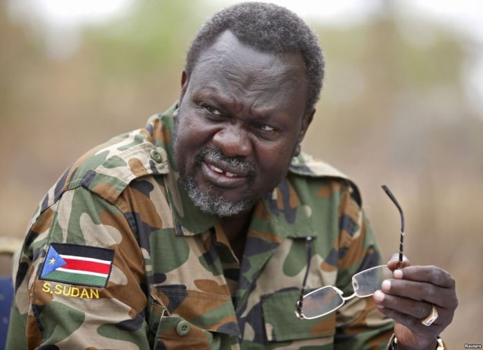 South Sudan's rebel leader and former vice-president, Riek Machar,