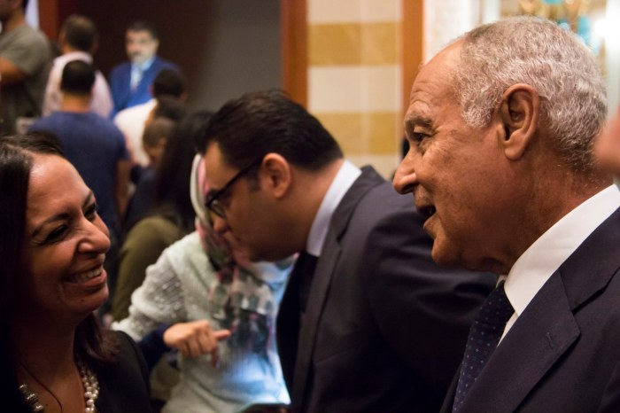 SG of the League of Arab States, Ahmed Abou el-Gheit with Maya Morsy, head of the Egyptian NCW. Photo:UN Women/Yara Saed.