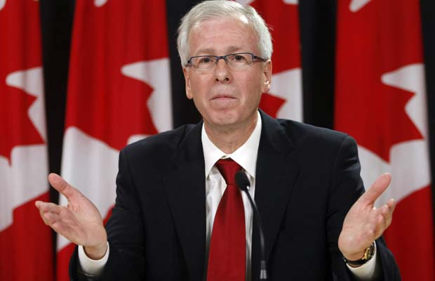 Stéphane Dion speaks at the National Press Theatre in Ottawa