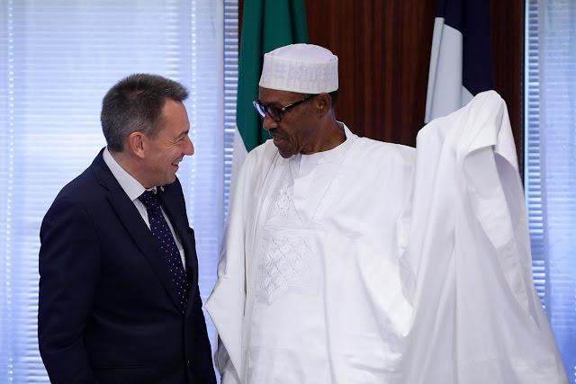 President Muhammadu Buhari and Peter Maurer President of ICRC