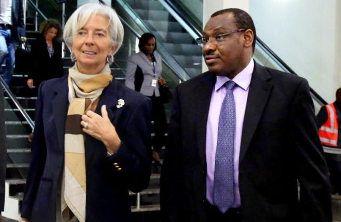 christine-lagarde-and-minister-claver-gatete-as-imf-boss-arrived-in-rwanda-last-year